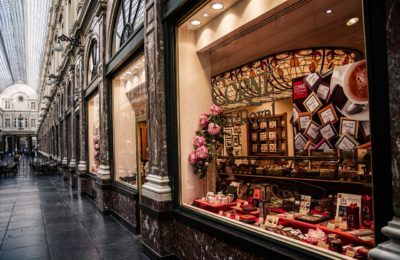 Chocolate Shop In Brussels, Belgium