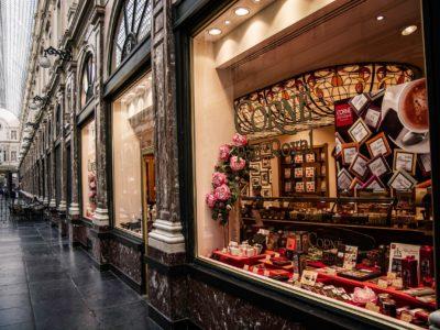 Chocolate Shop In Brussels, Belgium